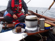 cooking on faering while sailing